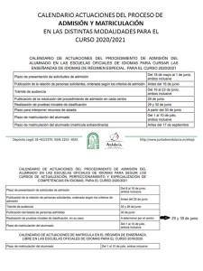 calendario-admision-y-matriculacion-2020-2021